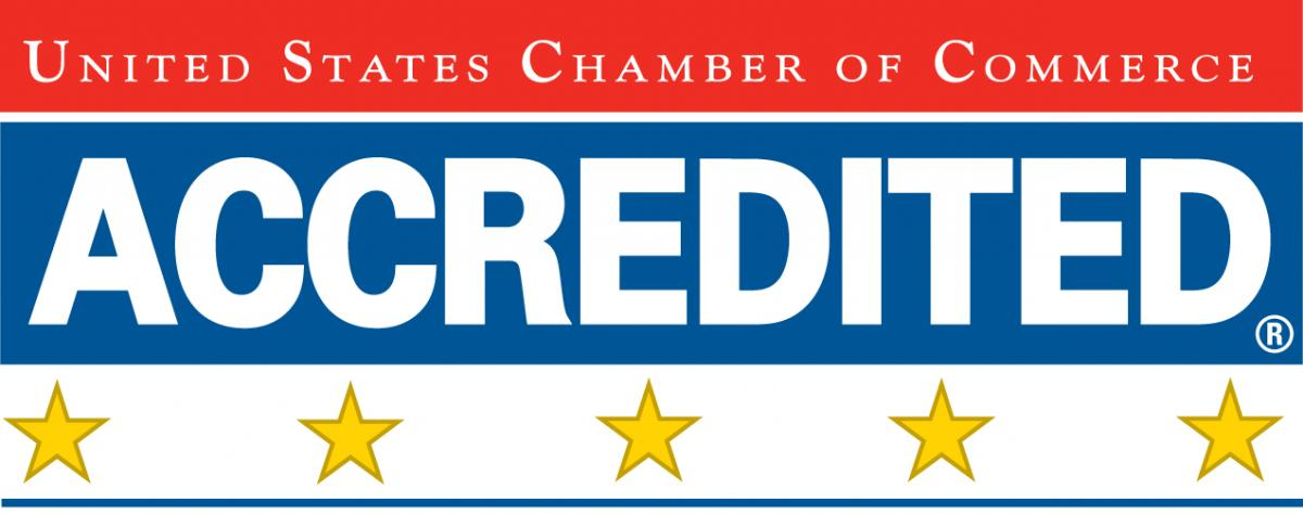 Photo of US Chamber of Commerce 5-Star Accreditation Seal