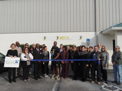 Group Fitness ribbon cutting