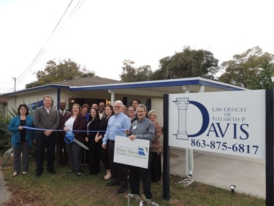 Elizabeth Davis ribbon cutting