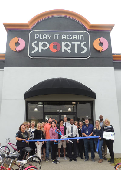 Play it Again sports ribbon cutting