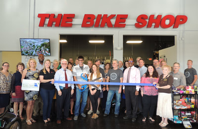 The bike shop ribbon cutting