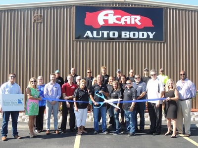Picture of Acar ribbon cutting