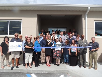 Picture of the Cypress Junction Montessori ribbon cutting