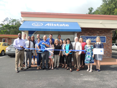 Allstate ribbon cutting