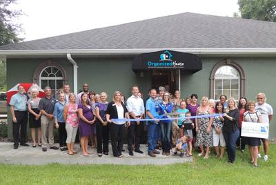 Organized Haven ribbon cutting