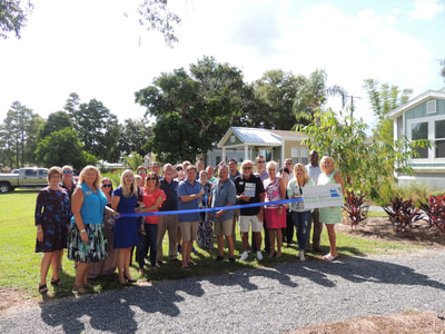 Cypress inlet ribbon cutting