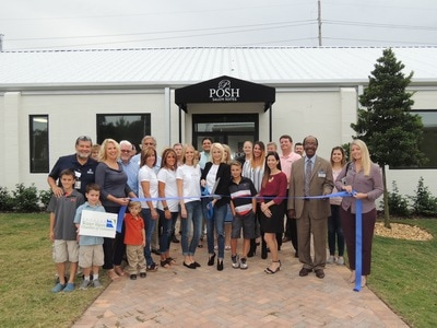 Picture of the Posh Salon Ribbon Cutting