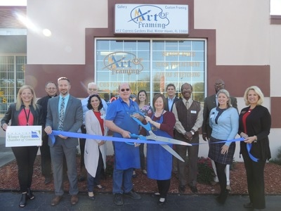 Picture of the Art of Framing Ribbon Cutting