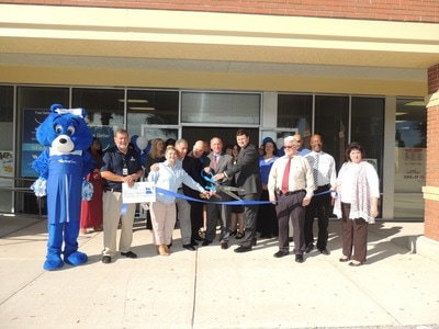 Photo of a ribbon cutting