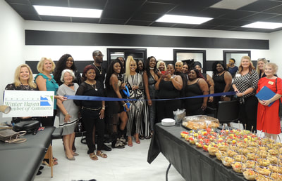 Glam Bar ribbon cutting