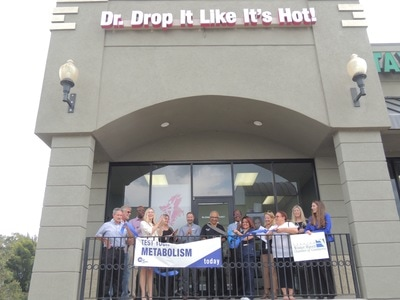 Dr. Drop it ribbon cutting