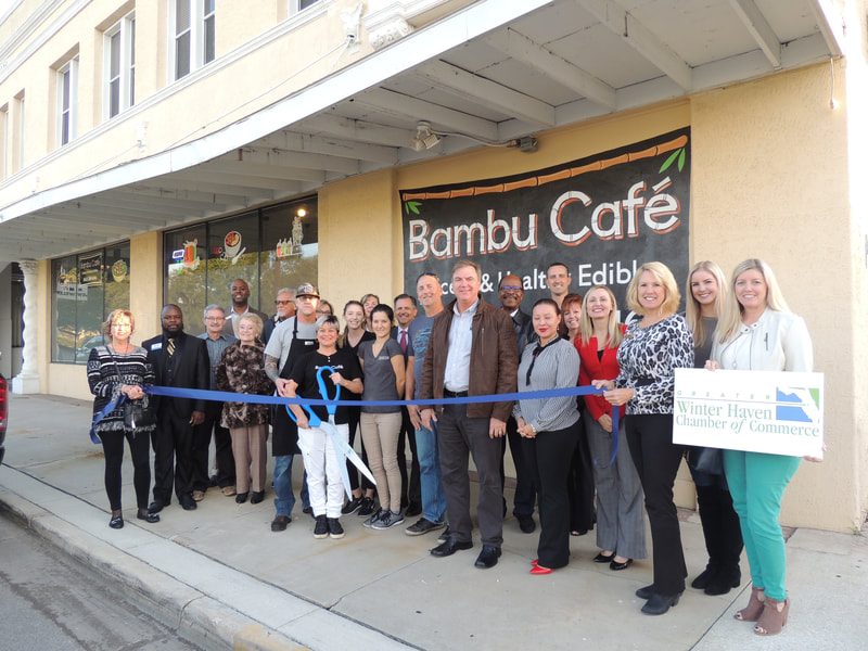 Bambu Cafe ribbon cutting