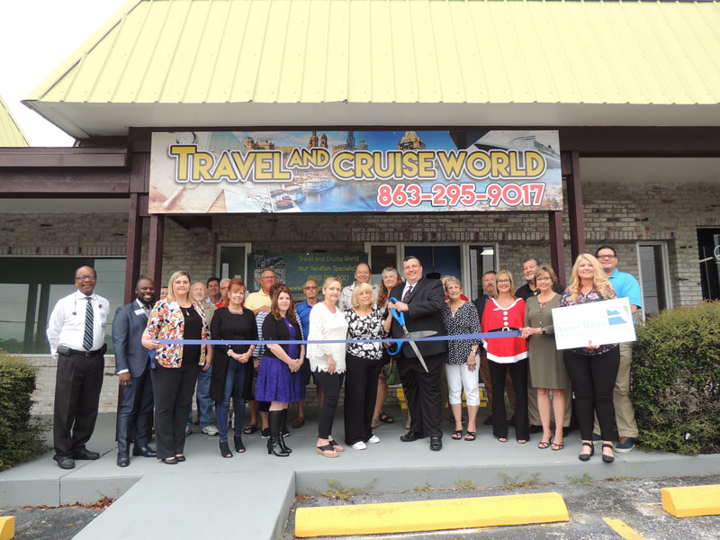 Travel and Cruise World Ribbon cutting