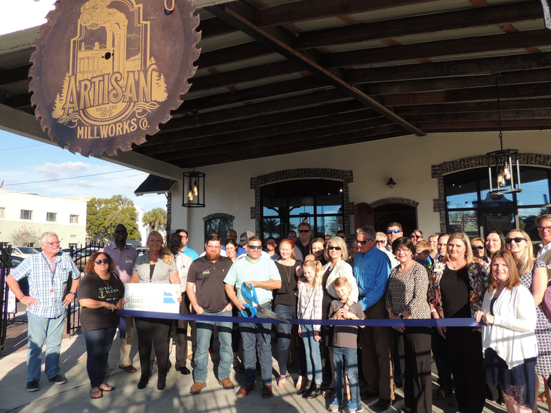 Artisan Millworks ribbon cutting