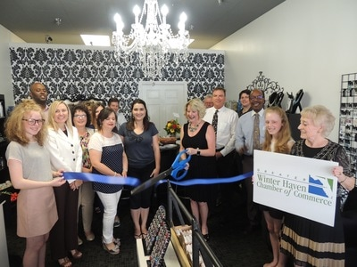 Lucy Minerals ribbon cutting