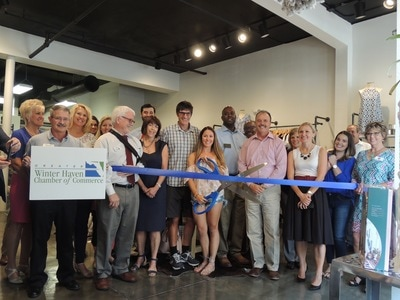 M.Marie ribbon cutting