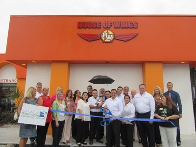 House of Wings ribbon cutting