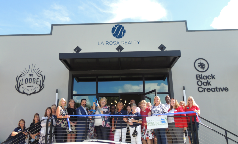 La Rosa ribbon cutting